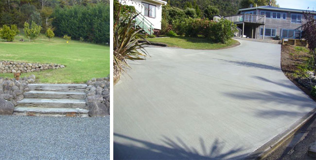 garden landscaping and driveways by manaia excavators
