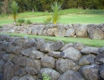 Landscaping rock work